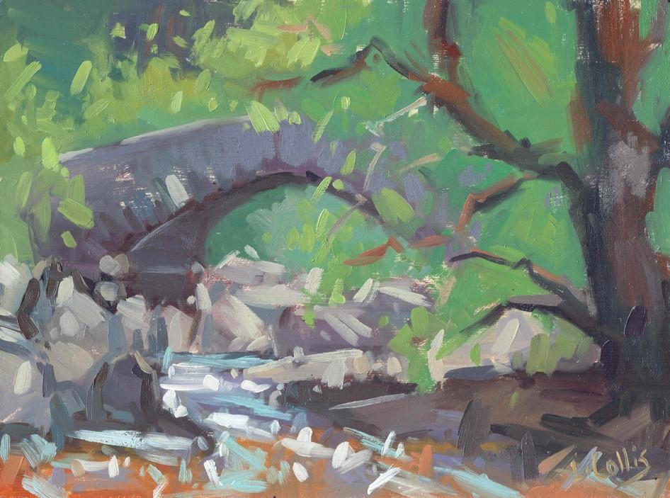 Penbont Bridge Elan Valley  oil on board  21cm X 17cm image size  35cm X 30cm frame size  £195