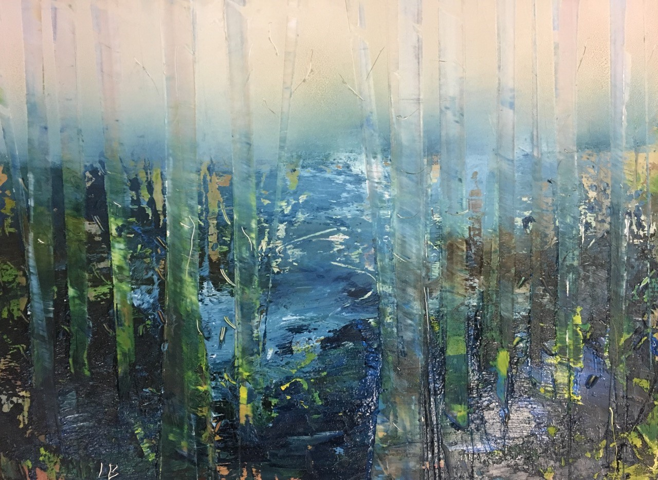 Forest in Mist  Oil on panel  17.5 x 23.5 x 0.1 cm  £245
