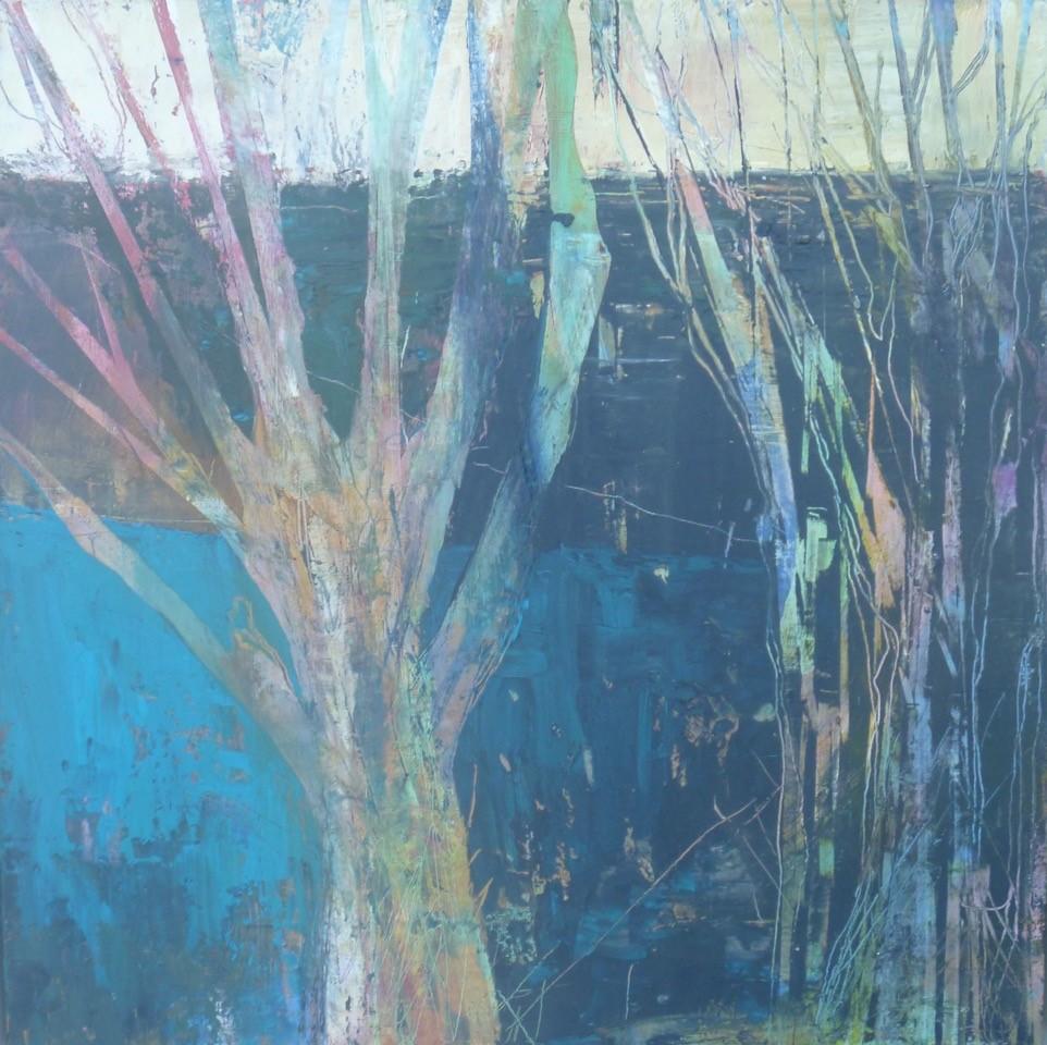 Lifelines  Oil/cold wax on canvas board  40 x 40 x 0.1 cm  £395