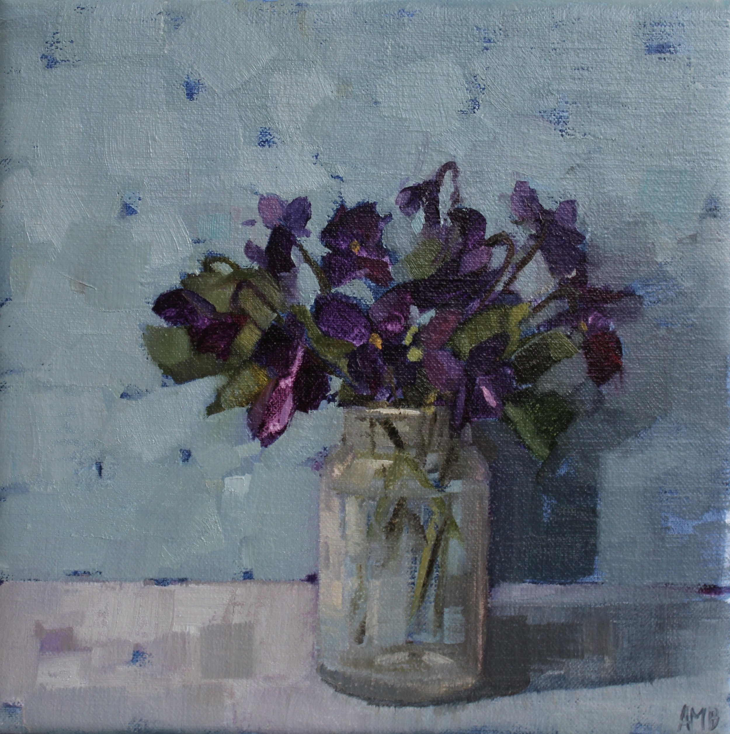 Violets in a Jam Jar.jpeg