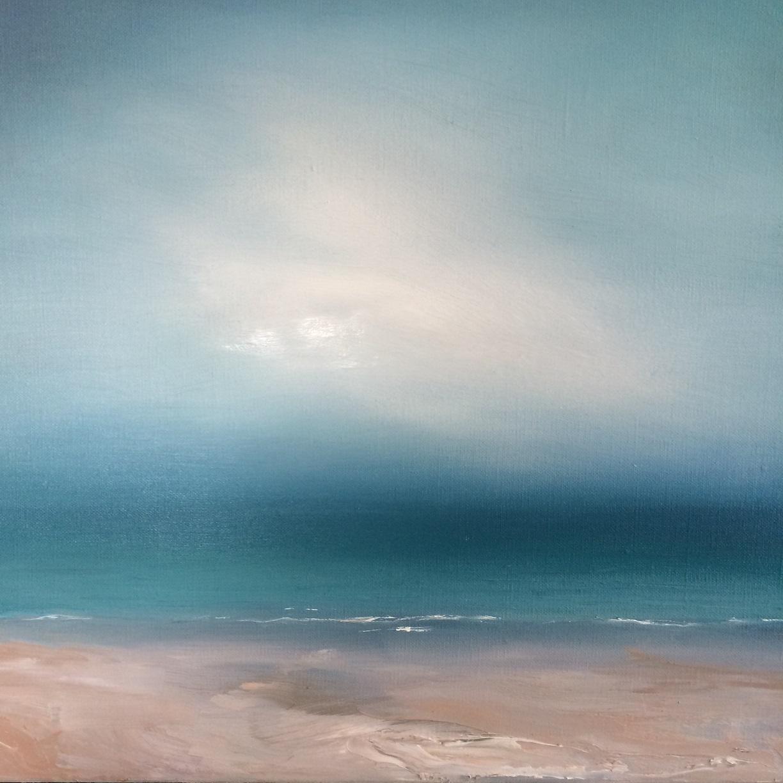 Silent Shore  40 x 40cm  Oil on linen canvas  sold
