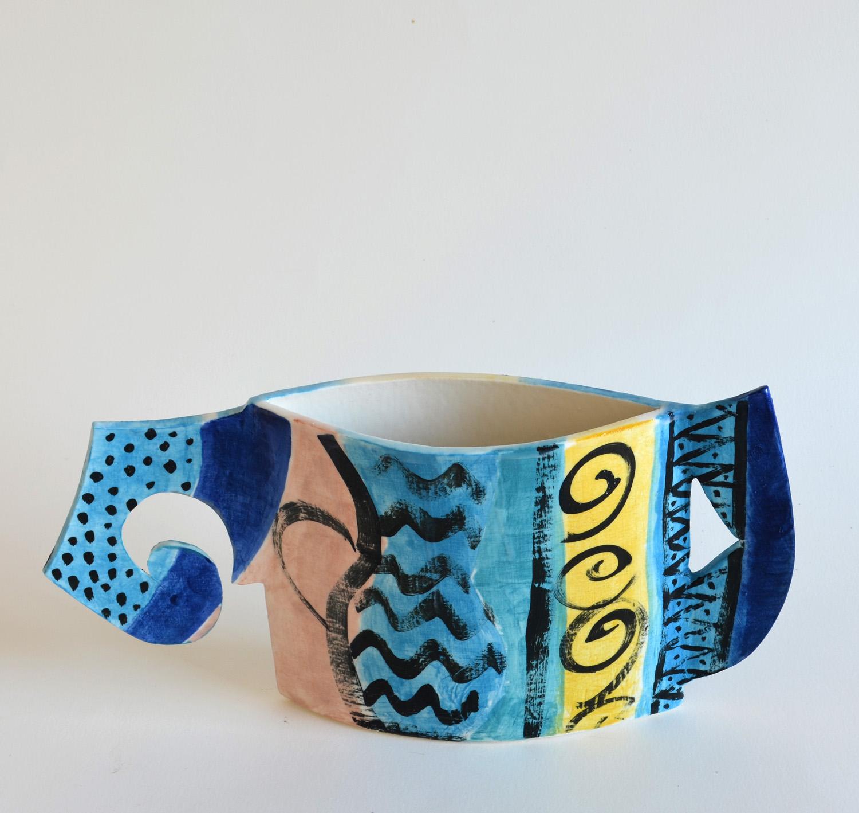 Small Vase  grogged porcelain  20 x 37 x 7 cm  SOLD