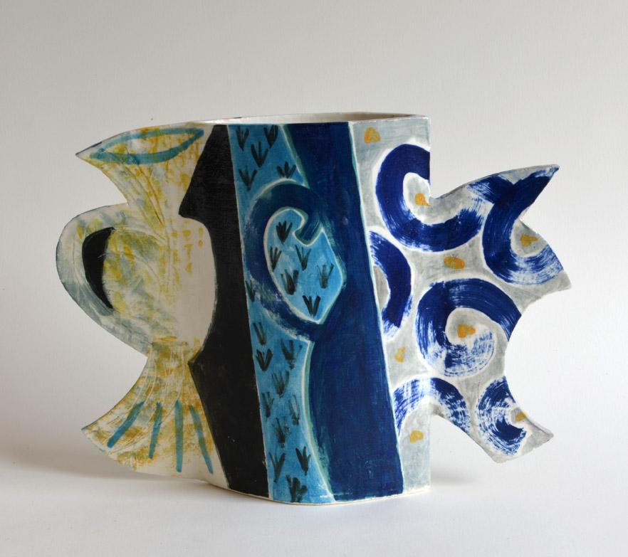 Vase side 1  grogged stoneware  27 x 39 x 7.5 cm  SOLD