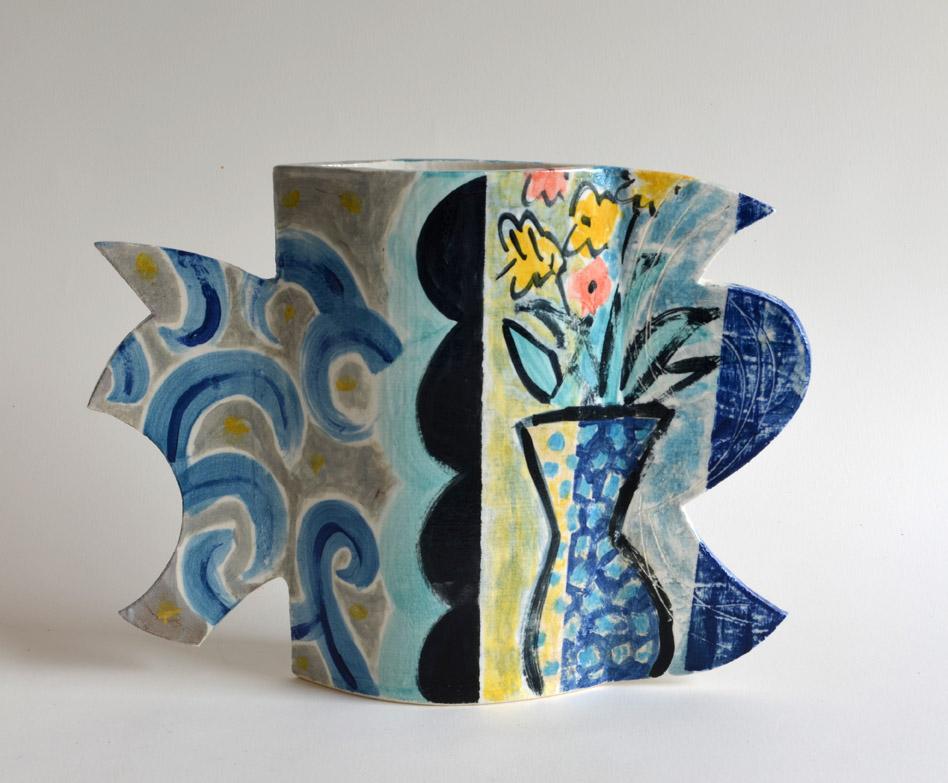 Vase side 2  grogged stoneware  27 x 39 x 7.5 cm  SOLD