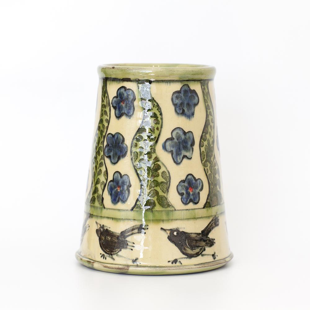 Round Bird Vase  ceramic  14x18cm  £81