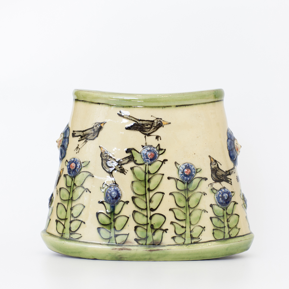 Oval Bird Vase   ceramic  14x18cm  £81