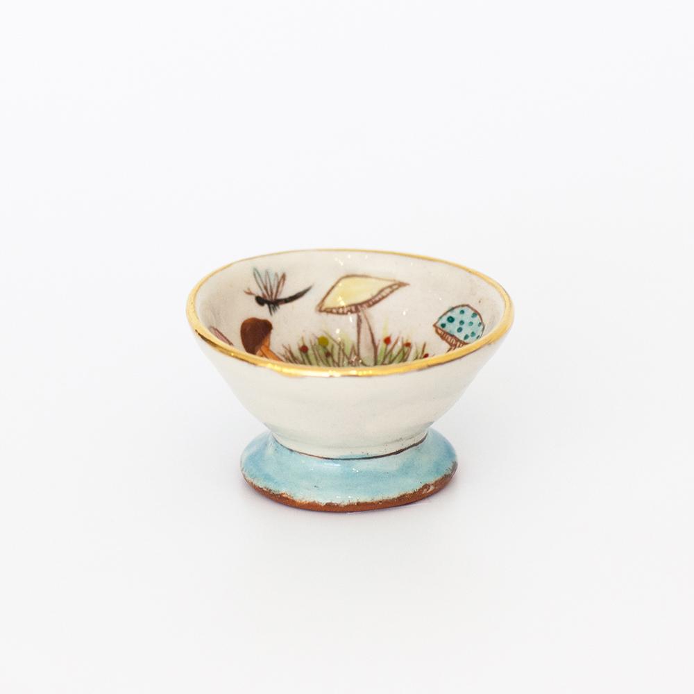 Mushroom Mini Dish  ceramic  6cm x 3cm  sold