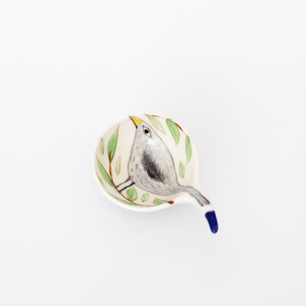 Bird Coffee Scoop  ceramic  8cm x 6cm  sold