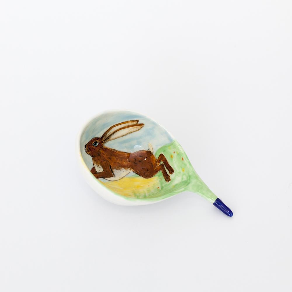 Hare Coffee Scoop  ceramic  8cm x 11cm  £40