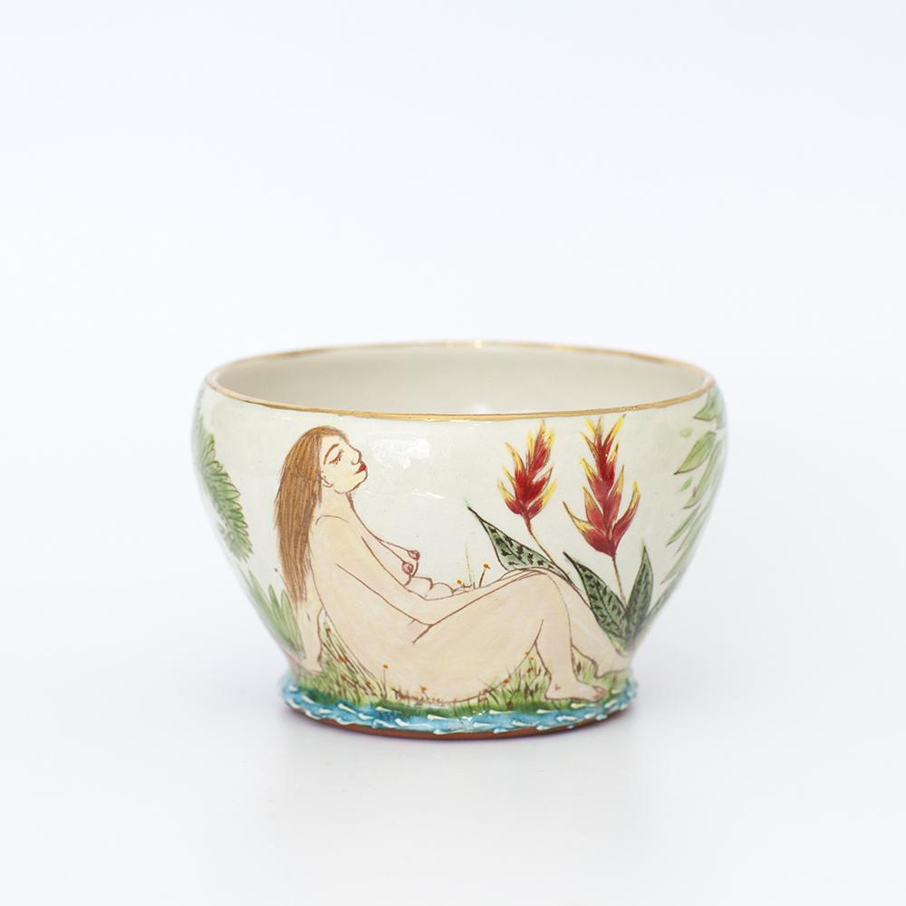 Nudes in Nature Bowl  ceramic  12cm x 8cm  sold
