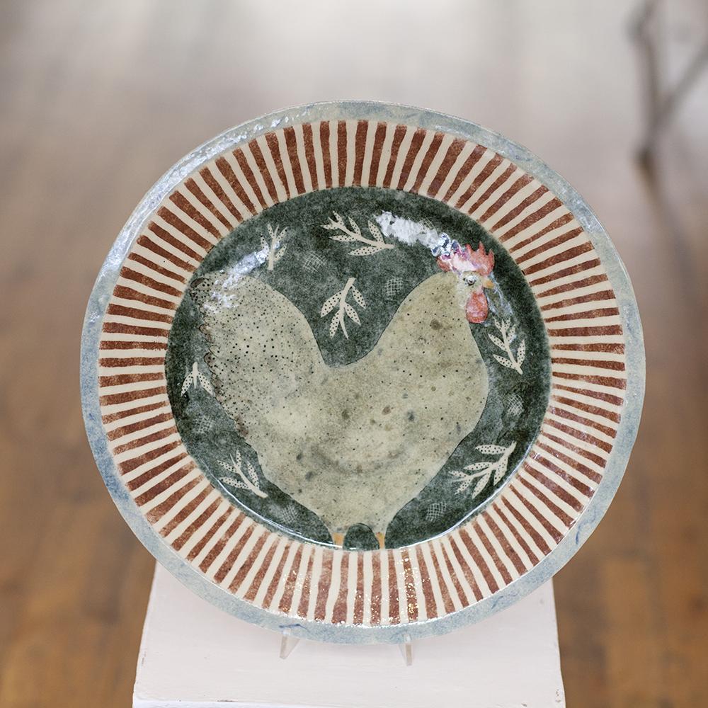 Scandinavian Chicken Dish  ceramic  3cm x 40cm  sold