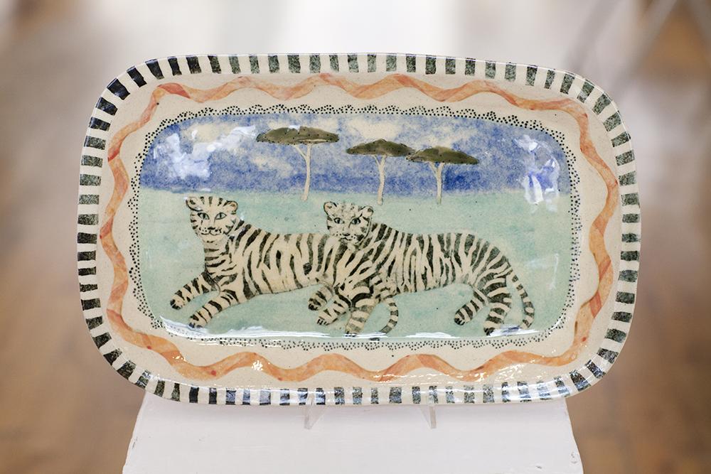 African Savannah Dish  ceramic  3cm x 39cm  sold