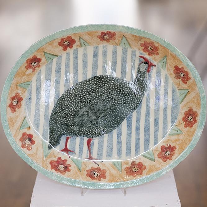 Guinea Fowl Dish  ceramic  4cm x 42cm  £525