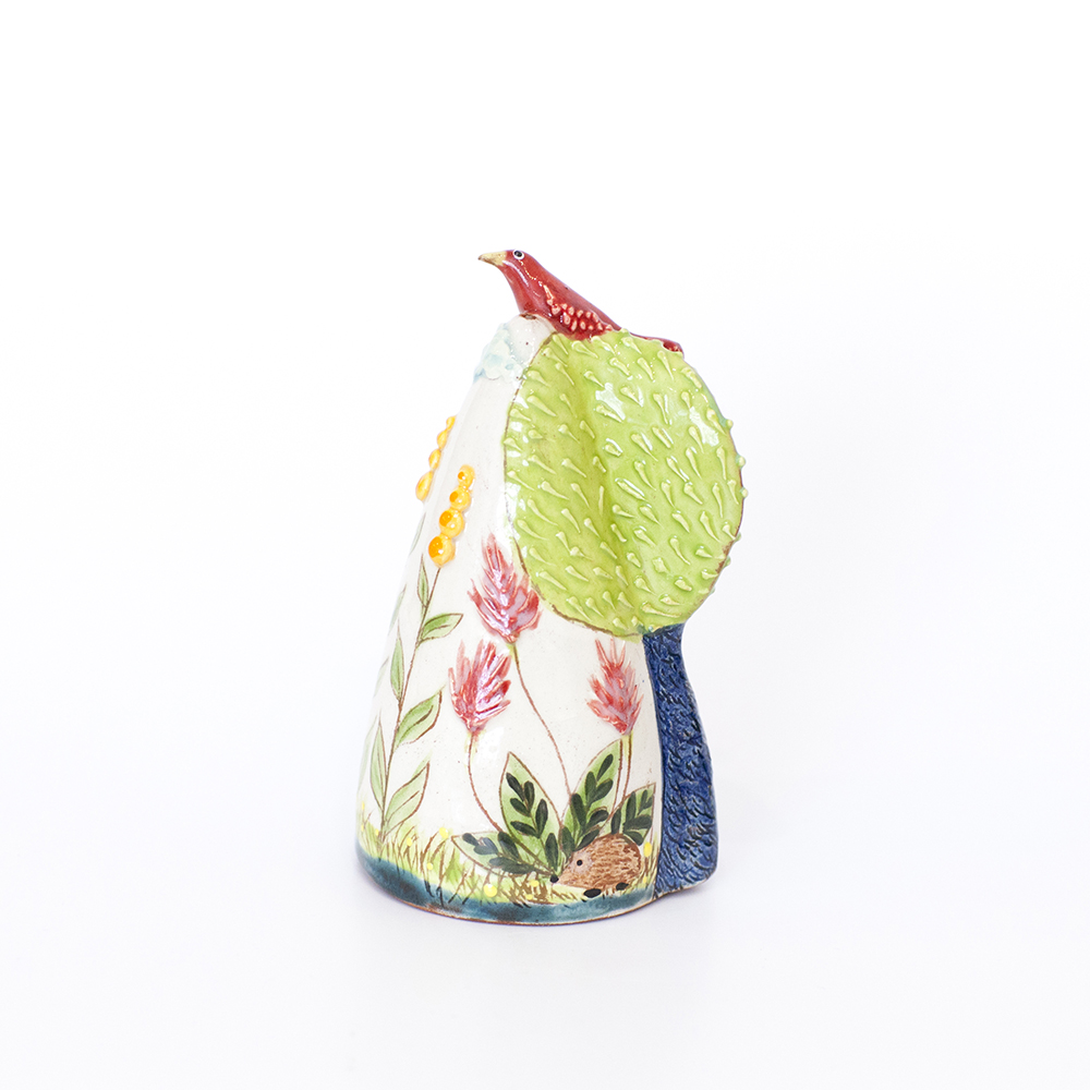 Red Bird on Trees Salt Shaker  ceramic  6cm x 14cm  sold