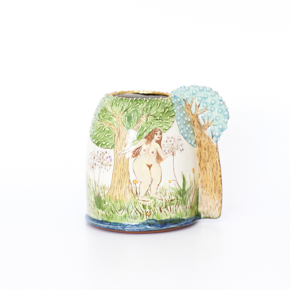 Landscape and Nudes Vase  ceramic  9cm x 10cm  £165