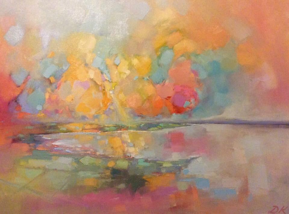 Light on the Loch  Oil & Acrylic on canvas  60 x 45 cm framed  sold
