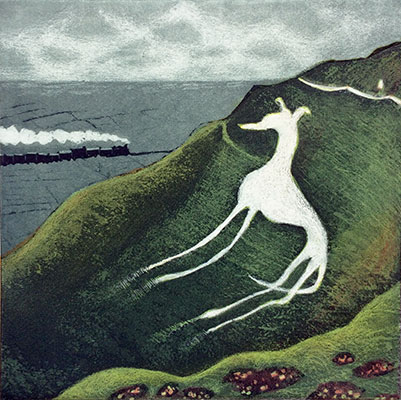 Eric Ravilious's Dog   etching   23 x 23 cm  £220 (unframed)
