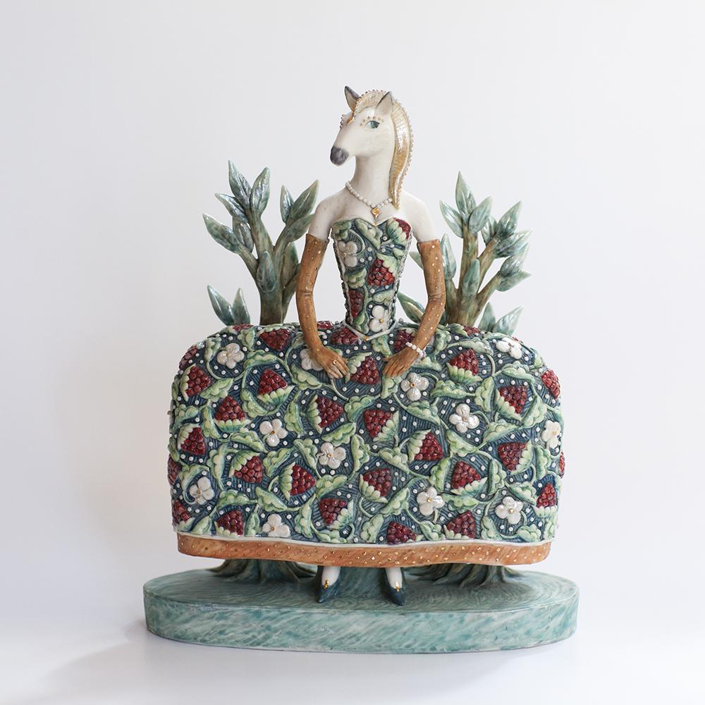 Horse in a Frock  ceramic  21x18x8cm  £435