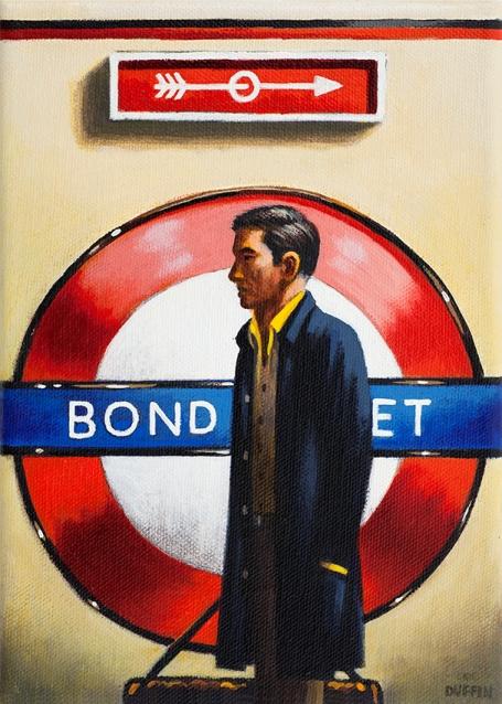 Bond Street  Oil  21 x 15 cm   £495