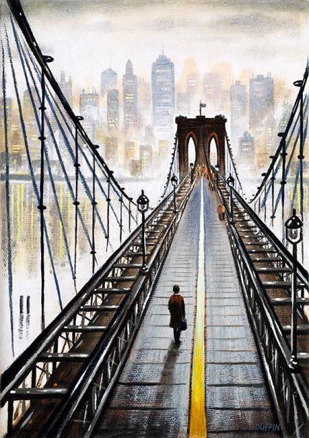 Brooklyn Bridge to Manhattan  Oil  21 x 15 cm   £495