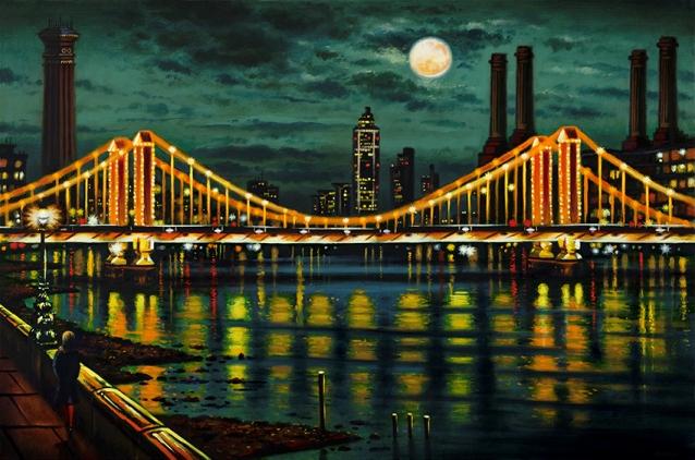 Chelsea Bridge  Oil  51 x 76 cm  £1995