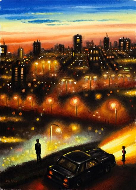 City Lights 2  Oil  30 x 21 cm  £595