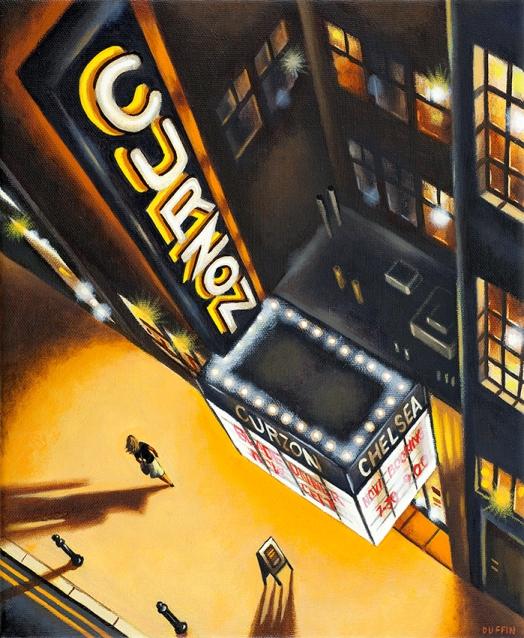 Curzon - King's Road SW3  Oil  30 x 25 cm   £695