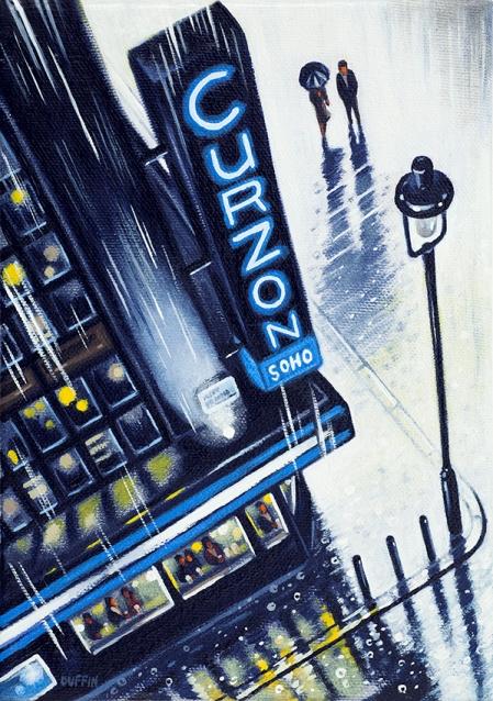 CURZON (Soho)  Oil  21 x 15 cm  £495