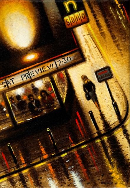 Curzon Soho Bar  Oil  21 x 15 cm  £495
