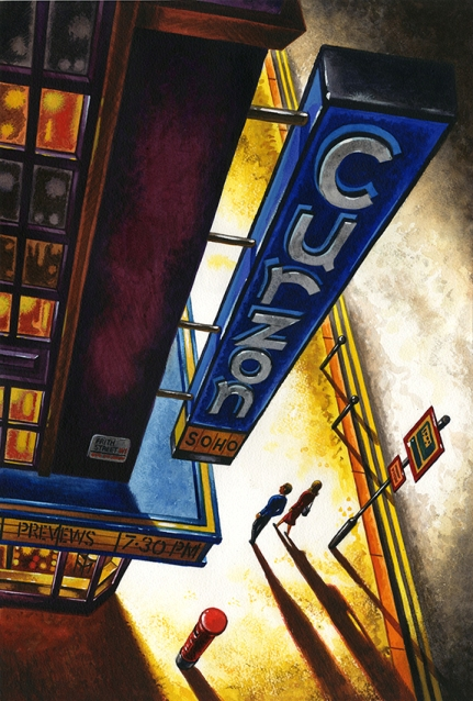 Curzon Soho  Watercolour  56 x 38 cm  £1495