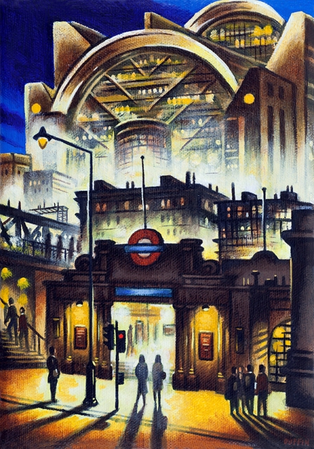 Embankment Tube Station  Oil  21 x 15 cm   £495