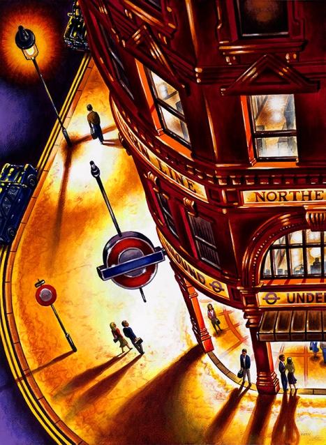 Last Tube  Acrylic on Paper  76 x 56 cm   £1695
