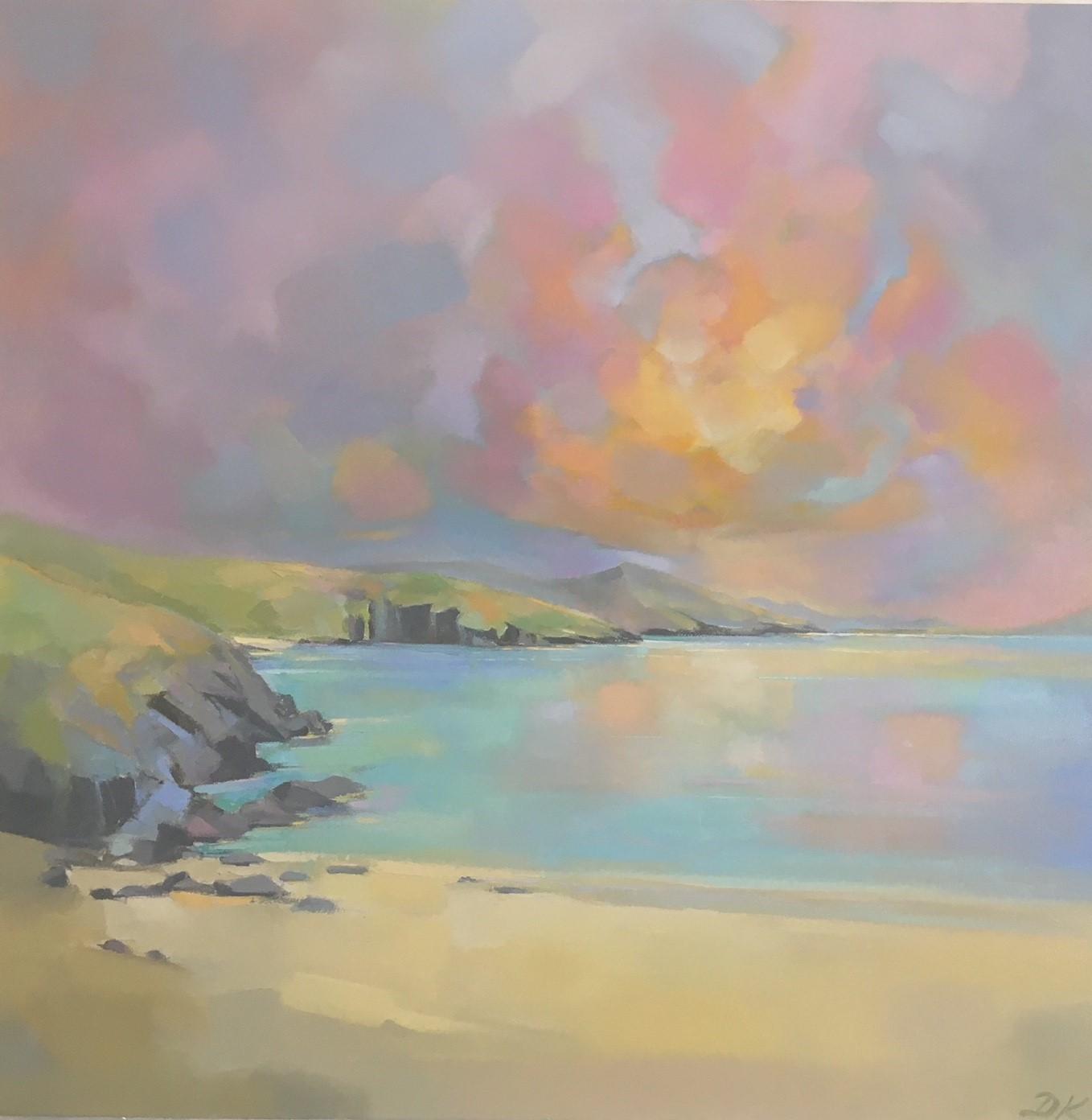 Hushinish Evening Light  Oil and acrylic on canvas  70 x 70cm  £995