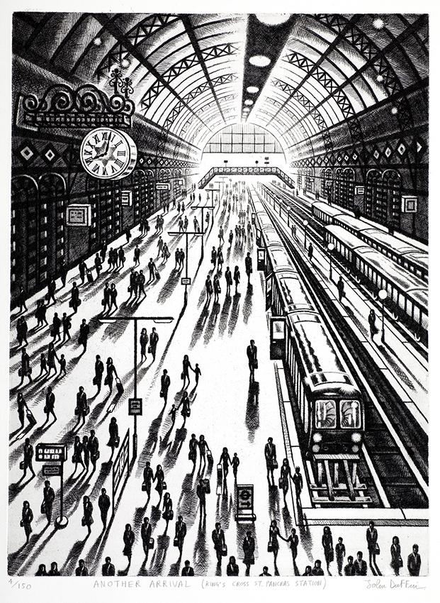 Another Arrival (King's Cross St Pancras)   etching   61 x 46 cm  £795 (framed)  ££595 (unframed)