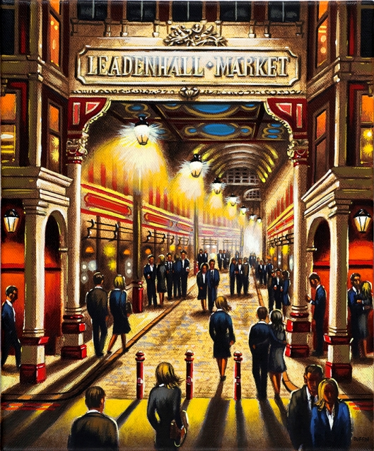 Leadenhall Market  Oil  30 x 25 cm  £695
