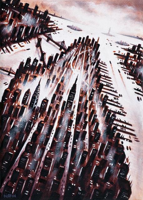 Manhattan (Burnt Sienna)  Oil  21 x 15 cm  £495