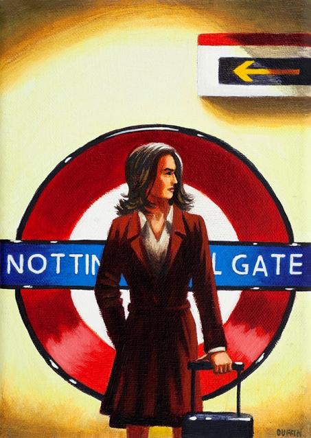 Notting Hill Gate  Oil  21 x 15 cm  £495