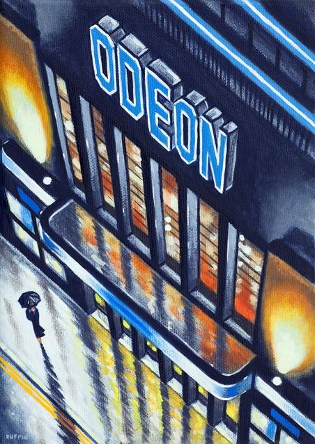 ODEON (Finchley)  Oil  21 x 15 cm  £495