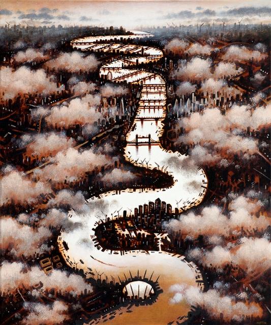 Thames Clouds (Autumn)  Oil  61 x 51 cm  £1595