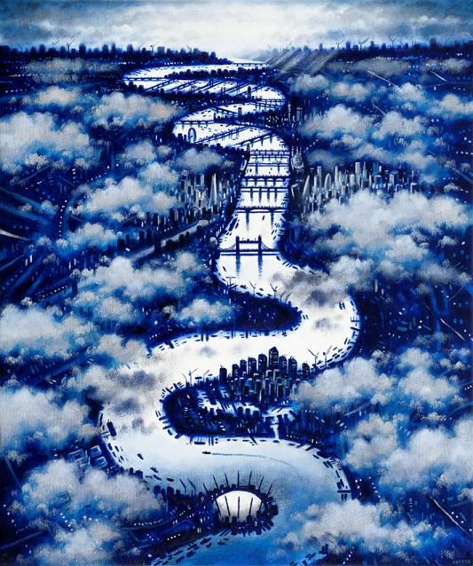 Thames Clouds (Winter)  Oil  61 x 51 cm  £1595