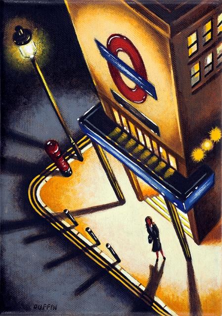 Tube Light 4  Oil  21 x 15 cm  £495