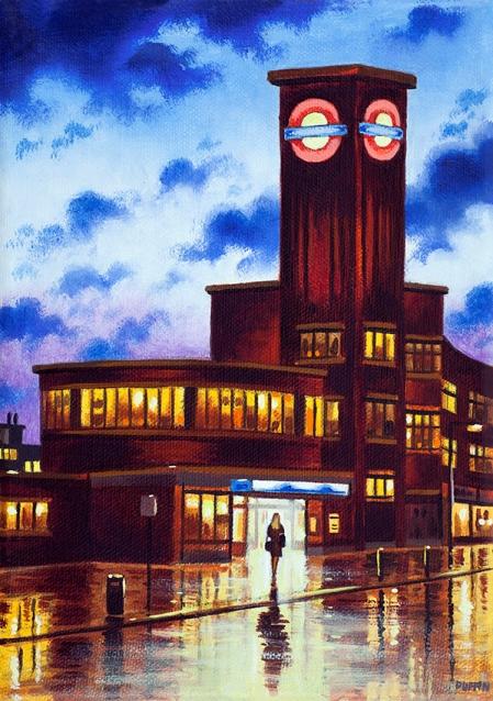 Tube Station Dusk (PR)  Oil  21 x 15 cm  £495