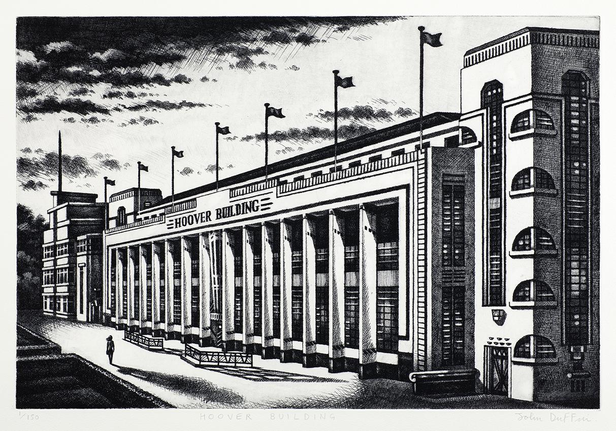 Hoover Building   etching   40 x 60 cm  £795 (framed)  £595 (unframed)
