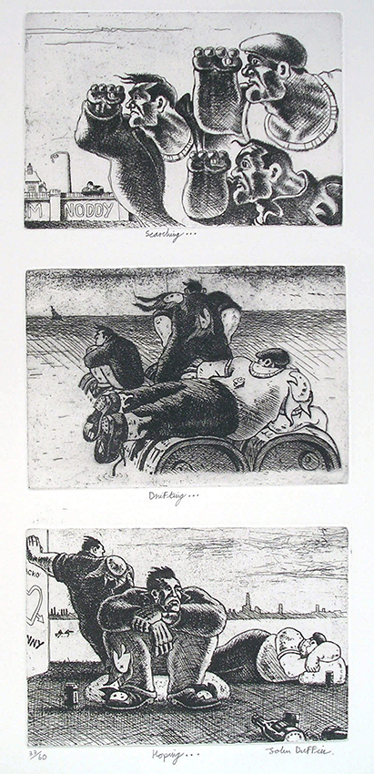 Searching Drifting Hoping   etching   60 x 25cm  £495 (framed)  £395 (unframed)