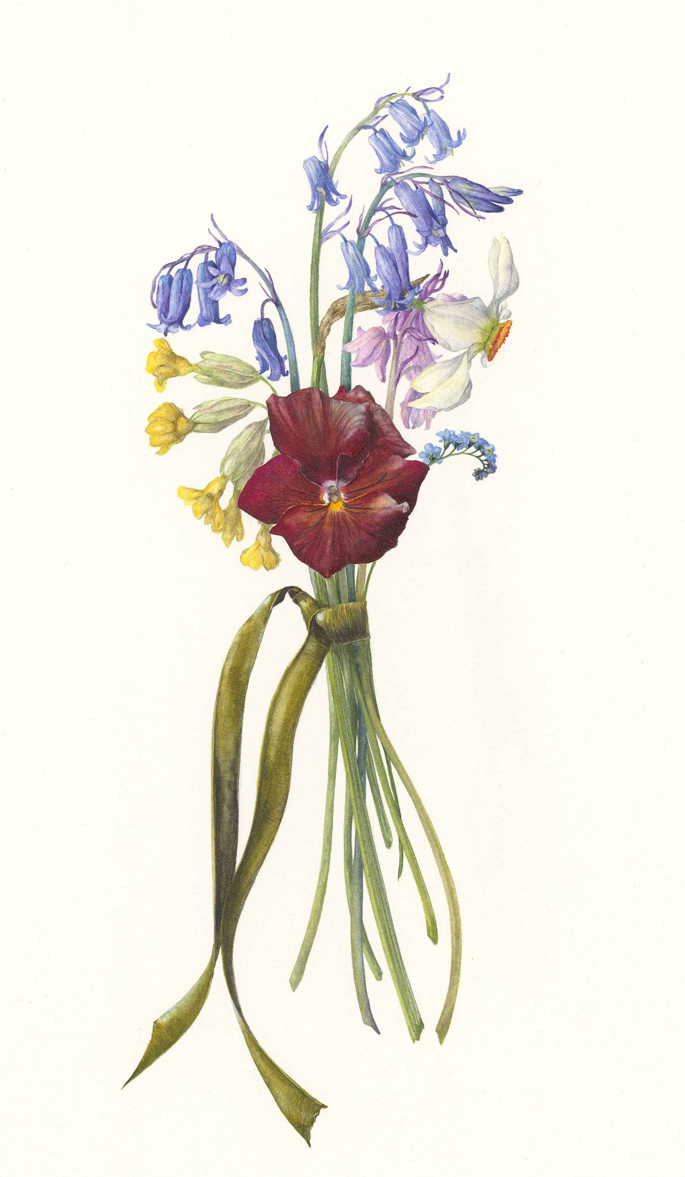 Spring Posy I  watercolour on paper  23 x 35 cm image  36 x 59 cm framed  SOLD