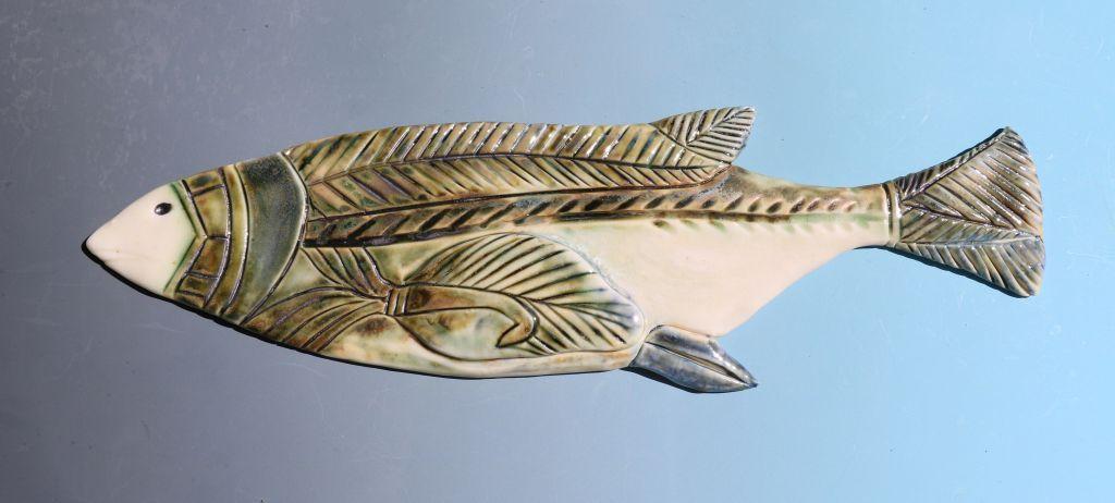 Large Patterned Fish  ceramic  9 x 30cm  £58