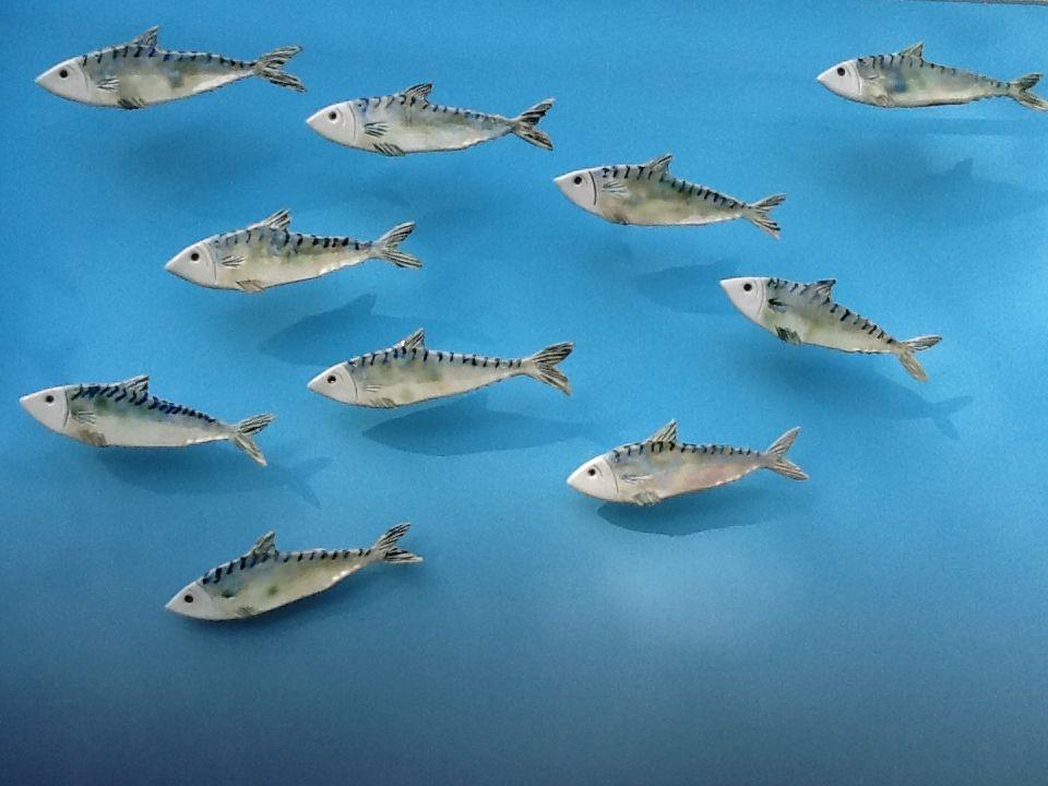 Small Plain Fish  ceramic  7cm x 19cm  £25 each