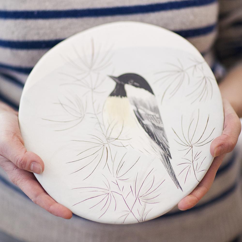 Coal Tit  ceramic  24x23cm  £110