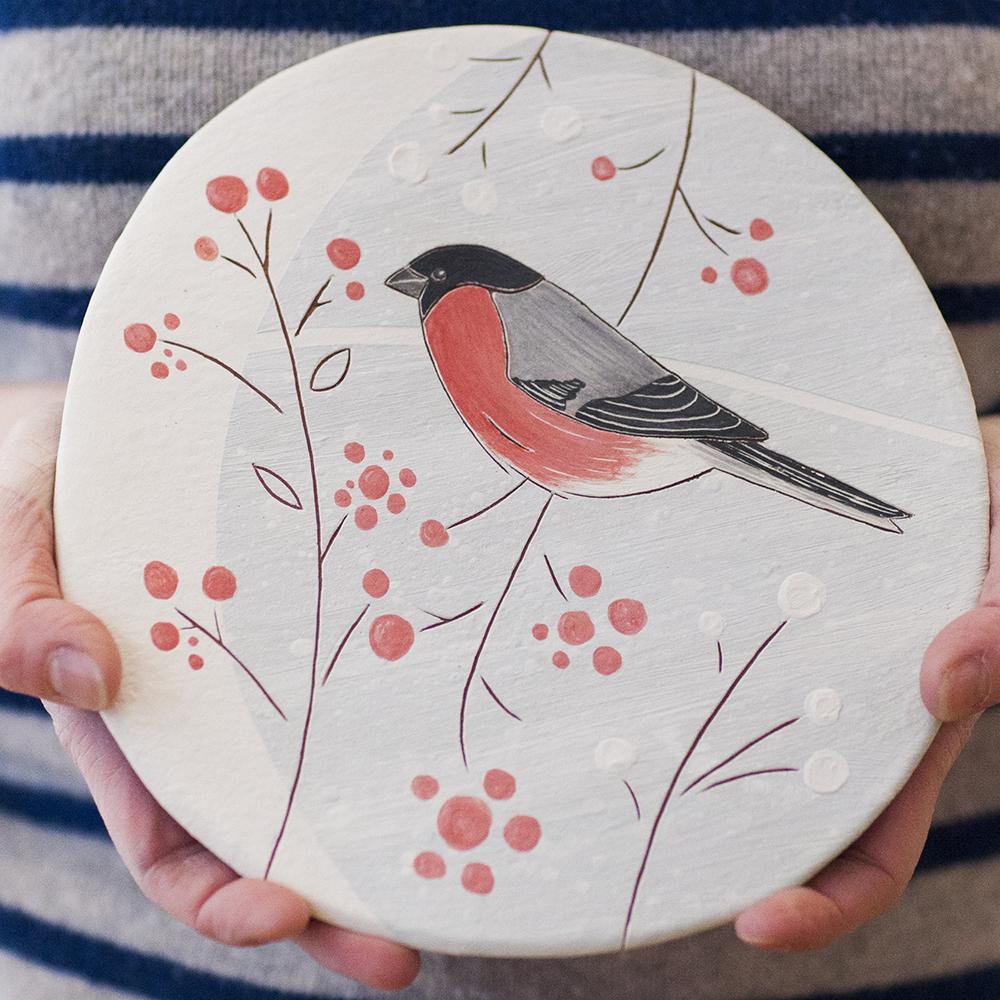 Bullfinch  ceramic  21x20cm  £110
