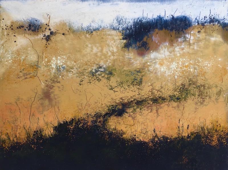 Grasslands  Oil and Cold Wax  46 x 56 cm framed  £425